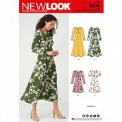 6574 New Look Pattern: Misses Short and Long Sleeved Dresses